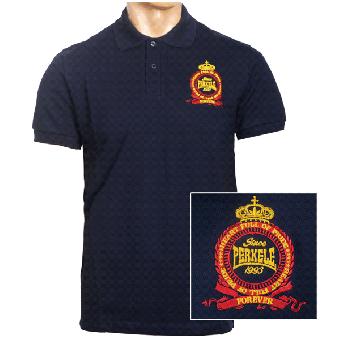 "Perkele ""Crown"" Polo-Shirt (navy)"