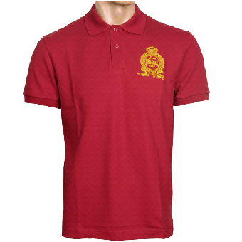 "Perkele ""Crown"" Polo-Shirt (burgund)"