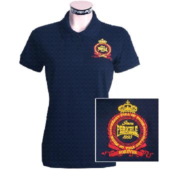 "Perkele ""Crown""  Girly-Polo (navy)"