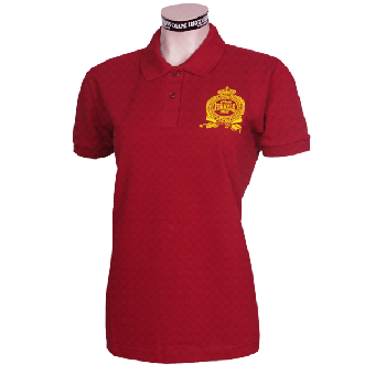 "Perkele ""Crown"" Girly-Polo (burgund)"