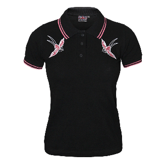"Spirit of the Streets ""2 Birds"" (pink) Girly Polo"