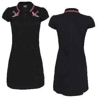 "Spirit of the Streets ""Jailbirds"" Girly Polo Dress (black)"