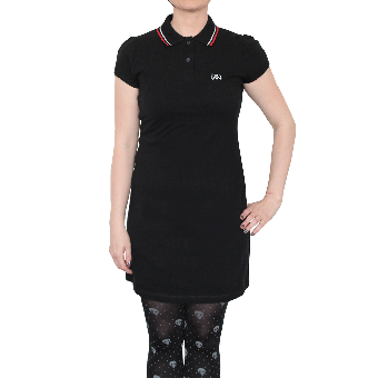 "Spirit of the Streets ""Logo"" Girly Polo Dress (black)"