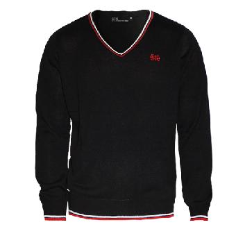 """Spirit of the Streets """"Logo"""" Jumper (Pullover) (black with red/white stripes)"""
