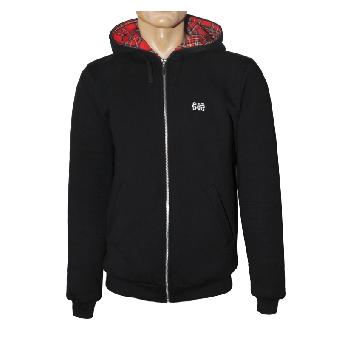 "Spirit of the Streets ""Logo"" Zip Hood Jacket (black/ tartan) (S)"