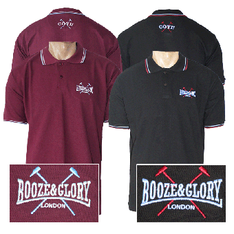 "Booze & Glory ""Logo"" Polo Shirt"
