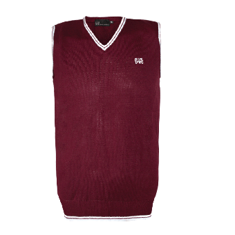 "Spirit of the Streets ""Premium"" Pullunder (burgundy with white stripes)"