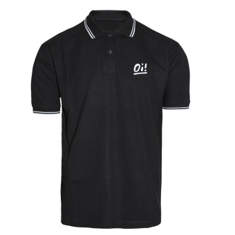 "A Way of Life ""Oi!"" Polo Shirt (black)"