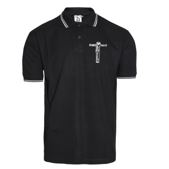 "A Way of Life ""Crucified!"" Polo Shirt (black)"