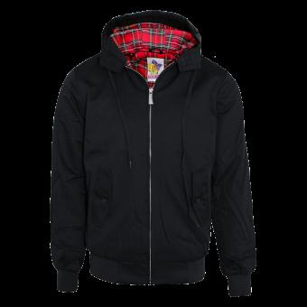 Harrington hooded jacket (black)