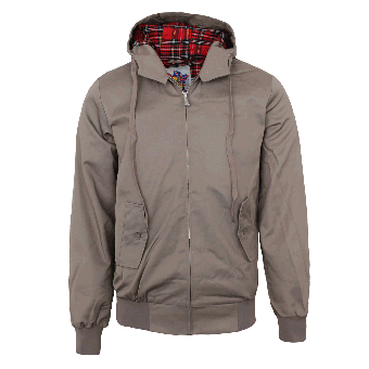 Harrington Kapuzenjacke (beige)