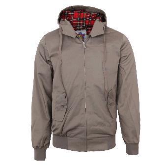 Harrington hooded jacket (beige)