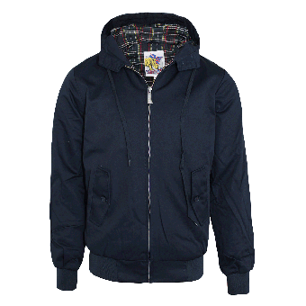 Harrington hooded jacket (navy)