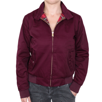Harrington Jacke Girly (weinrot)