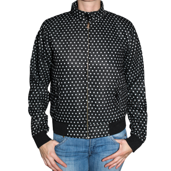 "Harrington Jacket ""Polka Dot""  Woman (black)"