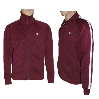 "Kings League ""04"" Trainingsjacke (bordeaux/white)"