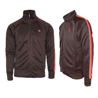 """Kings League """"04"""" Trainingsjacke (brown/red)"""