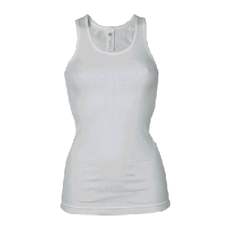 B&C Marcelle Woman Ripp -Tank -Top (weiß/white)