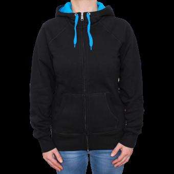 Sonar Rebel Girl Zipjacket (black/blue)