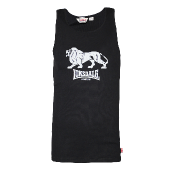 """Lonsdale Muscleshirt  """"Foxberry"""" (black)"""