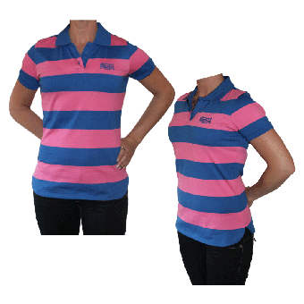 "Lonsdale ""YD"" Girl Polo (deep blue/pink)"