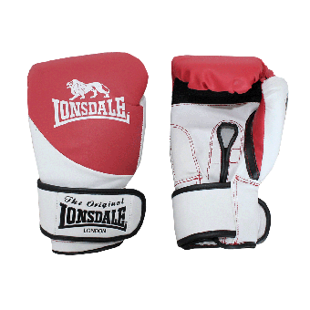 "Lonsdale ""Fight"" Boxhandschuh (white/red)"