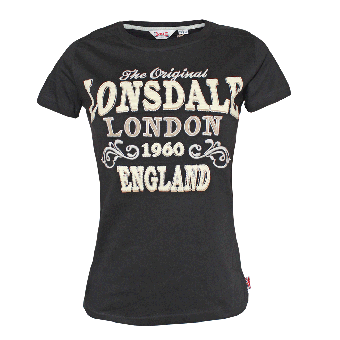 """Lonsdale """"Betsy"""" Girly Shirt (black)"""