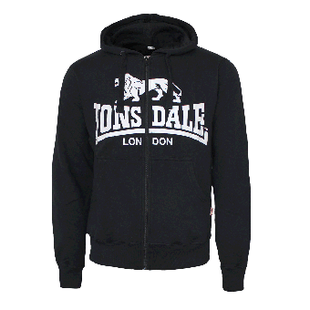 "Lonsdale ""Krafty"" Zip Hooded (black)"