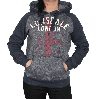 "Lonsdale ""Southampton"" Girly Kapu/Hooded (navy marl grey)"