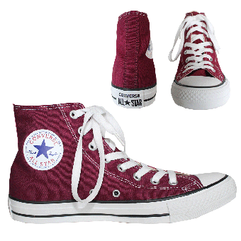 "Converse ""All Stars"" High Sneaker (maroon)"