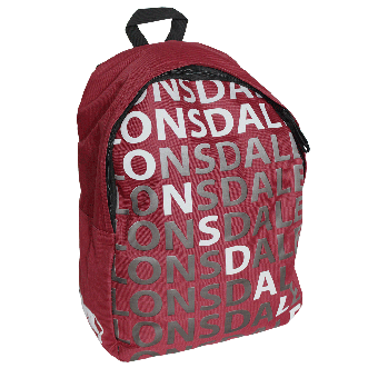 "Lonsdale ""Letters"" Rucksack (cherry red)"