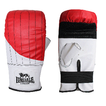 "Lonsdale ""Club"" Boxhandschuh (weiss/rot)"