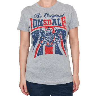 "Lonsdale ""Glastonbury"" Ladies T-Shirt (marl grey)"