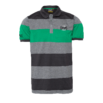 "Everlast ""Stripe"" Polo (grau/grün)"