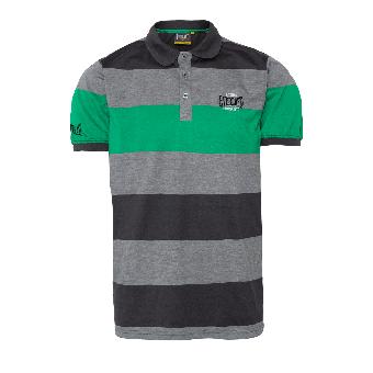 "Everlast ""Stripe"" Polo (grey/green)"