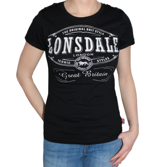 "Lonsdale ""Saint Annes"" Girly Shirt (black)"