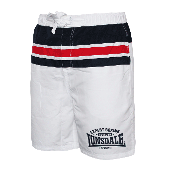 "Lonsdale ""Longhill"" Beach Shorts (white)"