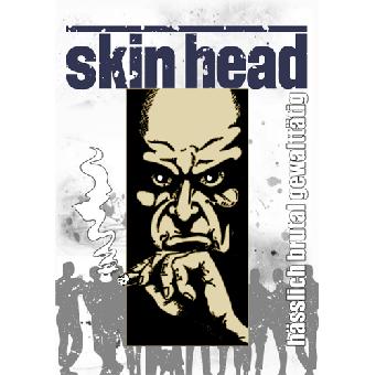 """Skinhead """"Hässlich, brutal, gewaltätig"""" Poster (gefaltet)"""