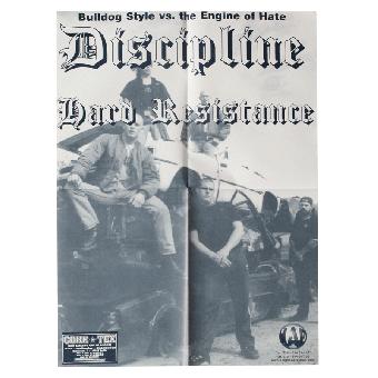 "Discipline ""Bulldog Style"" Poster A2 (gefaltet)"