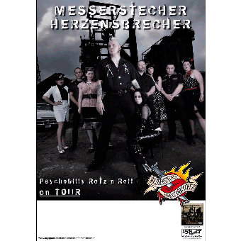 Messerstecher Herzensbrecher Tourposter 2008 (gefaltet)