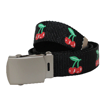 "Rock Daddy ""Cherry""  Web Belt (black)"
