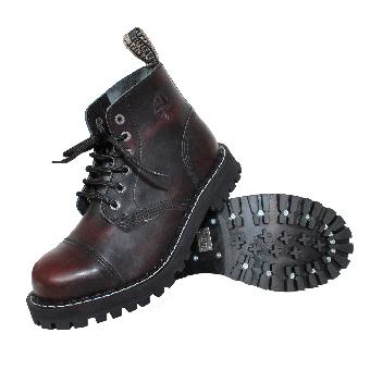 Steel Boots (6Loch) (burgund)