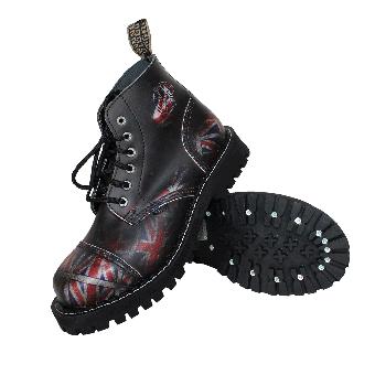 Steel Boots (6Loch) (Union Flag black)