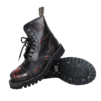 Steel Boots (8Loch) (Union Flag black)