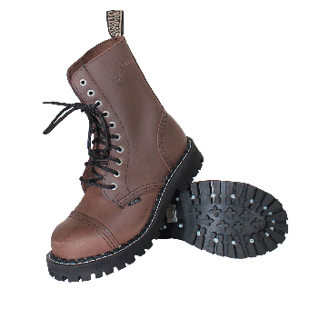 Steel Boots (10Loch) (brown)