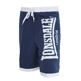 """Lonsdale """"Clennell"""" Beach Short (navy/white)"""