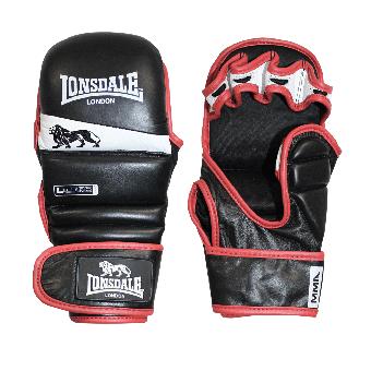 "Lonsdale ""Striking"" MMA Trainingsboxhandschuh (negro / blanco / rojo)"