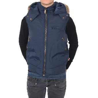 "Lonsdale ""Woodchurch"" Girly Wintervest (navy)"