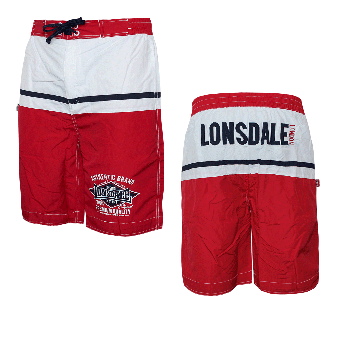 "Lonsdale ""Crediton"" Beach Short (rot)"