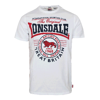 "Lonsdale ""Great Malvern"" T-Shirt (weiss)"